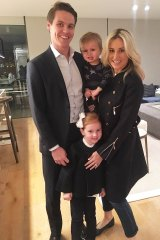 Happier days ... Roxy Jacenko with husband Oliver Curtis, daughter Pixie and son Hunter.