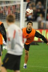 In demand: Luis Suarez trains with Liverpool in Melbourne.