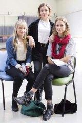 Fee fears: Chloe Sidney, Conor McEvoy, Abbey Hickey.