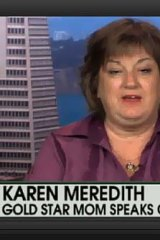 Karen Meredith, mother of Lt Ken Ballard who died in Iraq.