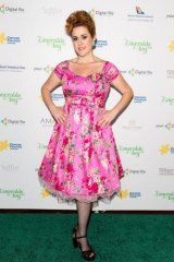 New focus: Katie Noonan arrives at The Emeralds and Ivy Ball.
