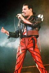 Glare of the paparazzi: Freddie Mercury.
