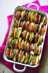 Layered vegetable tian: This dish is easy, healthy, quick to prepare and looks amazing.