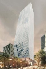 An artist's impression of the proposed office tower at 710 Collins Street.