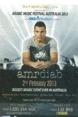 A poster promoting Amr Diab as the star attraction.