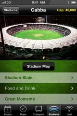 Stadiums Queensland's Megafon application for IPhones will be officially unveiled today.