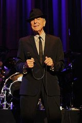 Leonard Cohen in Brisbane.