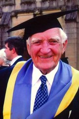 In his blood: Ian Hudson, who came from a family of timber merchants, had longstanding involvements with Rotary and the University of Sydney.