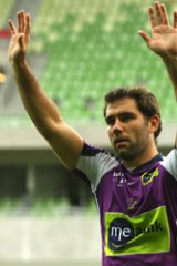 Staying put... Storm skipper Cameron Smith.