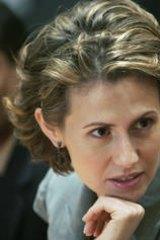 First lady … Asma al-Assad.