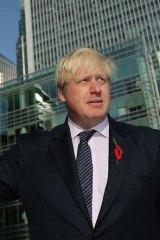 Mayor of London, Boris Johnson.