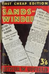 Bob Kerr of Leppington collects books. Book cover for <i>The Sands of Windee</i> by Arthur W. Upfield.