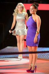 Diva derby: Sarah Lloyde and Danni Da Ros.