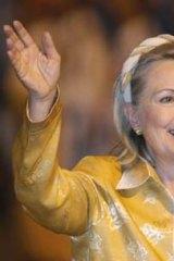 US Secretary of State Hilary Clinton.
