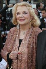 American actress Gena Rowlands.