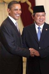 Barack Obama and Susilo Bambang Yudhoyono.