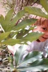 A young Luke Sales in the garden.