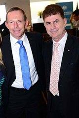 Tony Abbott and John Caputo in 2012.
