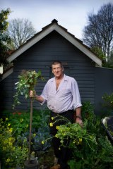 Jeff Kennett in his much loved garden, where he says he has always done his best thinking.