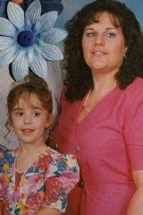 Brighter days … Dianne and daughter Leanne Thompson in 1993.