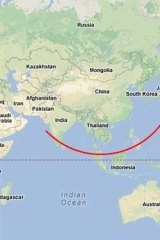 """A """"new Indo-Pacific strategic arc"""" stretching from India, through south-east Asia and north-east Asia."""