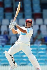 Hitting out … Usman Khawaja was in good touch for the Chairman's XI against Sri Lanka on Thursday, making a solid 56, but it came too late to boost his chances of a Test berth.