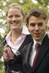 Clare O'Neil, when she was a 23-year-old mayor of Dandenong, with dumped Labor candidate Geoff Lake, then president of the Municipal Association of Victoria and Monash councillor.