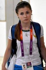 Uzbek gymnast Luiza Galiulina at Heathrow Airport earlier this week.