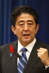 """We are wide open to receive the most advanced knowledge from overseas to contain the problem"": Japan's Prime Minister Shinzo Abe."