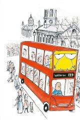 'Mr Chicken - London Bus' by Leigh Hobbs. Growing up in Melbourne, Hobbs's childhood dream was to visit England.