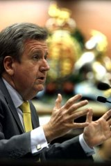 Under fire  ... Barry O'Farrell.