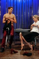 Jamieson Caldwell and Louise Crawford in <i>Rhonda is in Therapy</i>.