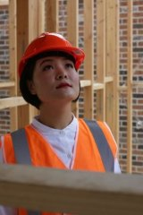 Claire Hu at her Box Hill property development.