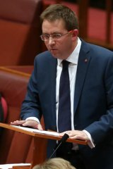Senator James McGrath lays out his radical libertarian plan in his maiden speech in the Senate on Wednesday.