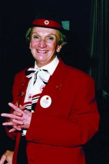 Tragic end ... Kennedy's mother Yvonne in her Red Cross uniform in 1999.