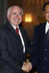 John Howard meets with Susilo Bambang Yudhoyono ahead of the Indonesian president's 2004 inauguration.