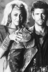 Mel Gibson with Tina Turner in <i>Mad Max: Beyond: Thunderdome.</i>