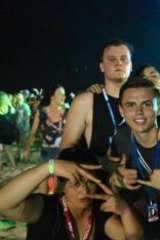 Inside Schoolies: Zeke (white T-shirt) and friends party on the Gold Coast.