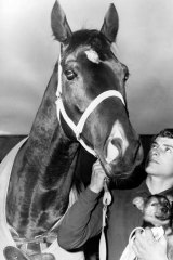 Jump star: Lots Of Time with then apprentice jockey Stan Aitken in 1969.