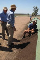 Tony Abbott inspects a soil carbon project in 2010.