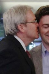 And from the other side: Kevin Rudd and his son Nicholas.
