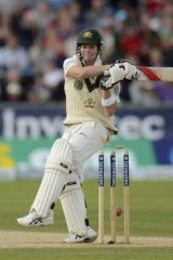 Steve Smith plays on to the stumps.
