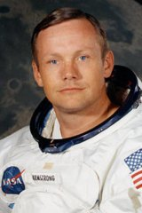 Neil Armstrong before the historic moonshot.