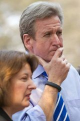 NSW Premier Barry O'Farrell views the destruction.