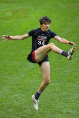 Kicker: Oleg Markov at the 2014 AFL Draft Combine.