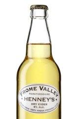Henney's Dry Sparkling Cider.
