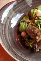 Hot: Crispy fried Szechuan duck dish at Lucy Liu.
