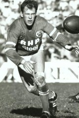 Outrageous talent: Mackey in action for the Steelers.