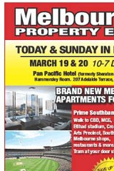 Melbourne Property Expo advertisement in the West Australian newspaper promoting Melbourne properties for sale.