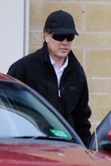 James Ramage leaves Beechworth Prison yesterday.
